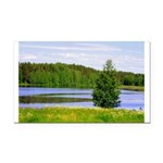Mid-summer day Rectangle Car Magnet