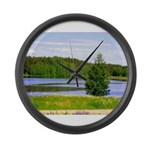 Mid-summer day Large Wall Clock