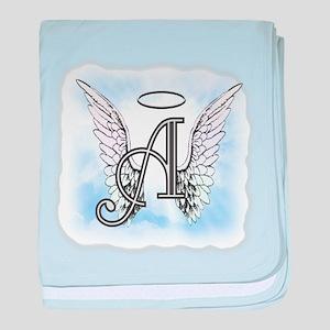 Letter A Monogram baby blanket
