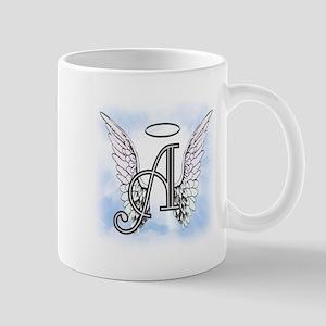 Letter A Monogram Mugs