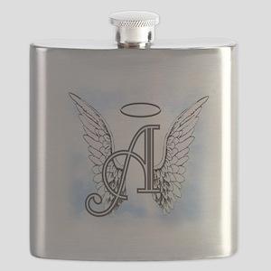 Letter A Monogram Flask
