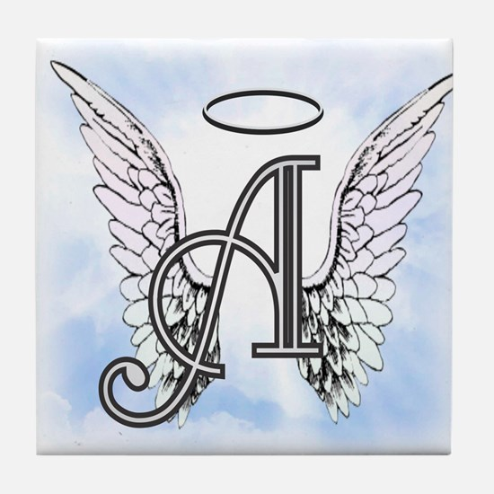Letter A Monogram Tile Coaster