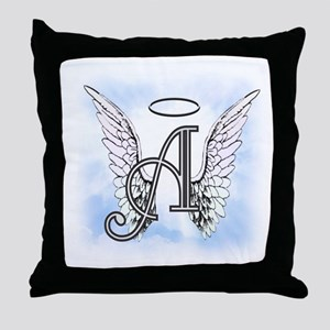 Letter A Monogram Throw Pillow