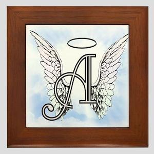 Letter A Monogram Framed Tile