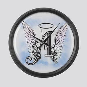 Letter A Monogram Large Wall Clock