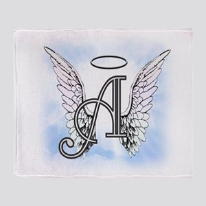 Letter A Monogram Throw Blanket