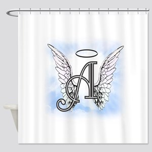 Letter A Monogram Shower Curtain