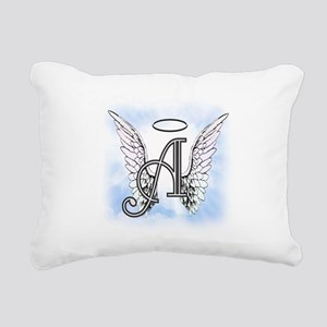 Letter A Monogram Rectangular Canvas Pillow