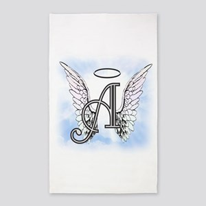 Letter A Monogram 3'x5' Area Rug