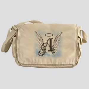 Letter A Monogram Messenger Bag