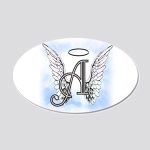 Letter A Monogram Wall Decal