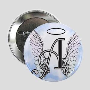 """Letter A Monogram 2.25"""" Button"""