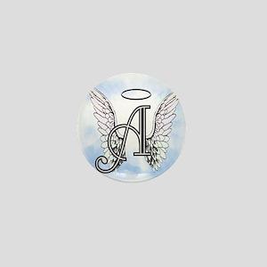 Letter A Monogram Mini Button
