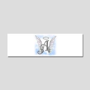 Letter A Monogram Car Magnet 10 x 3