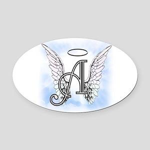 Letter A Monogram Oval Car Magnet
