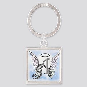 Letter A Monogram Keychains