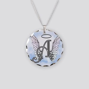 Letter A Monogram Necklace