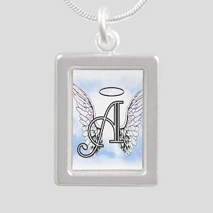 Letter A Monogram Necklaces