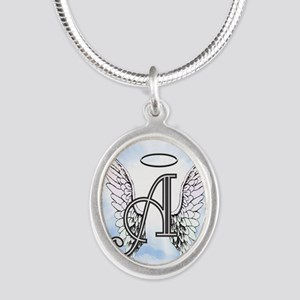 Letter A Monogram Necklaces