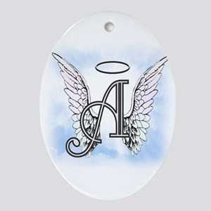 Letter A Monogram Ornament (Oval)