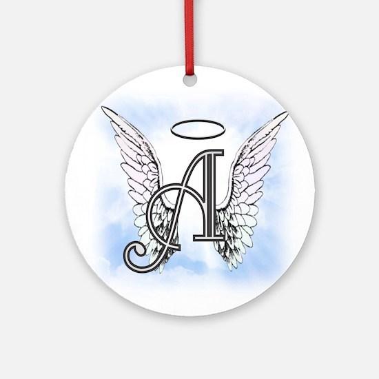 Letter A Monogram Ornament (Round)