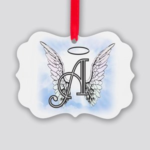 Letter A Monogram Ornament