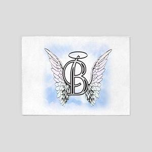 Letter B Monogram 5'x7'Area Rug