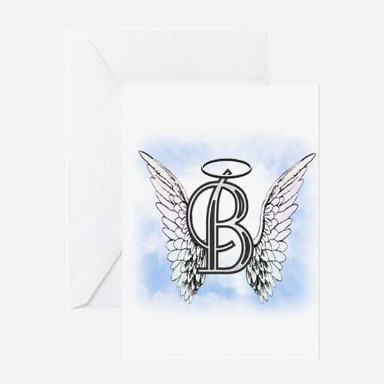 Letter B Monogram Greeting Cards