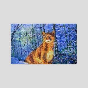 Snow Cougar 3'x5' Area Rug