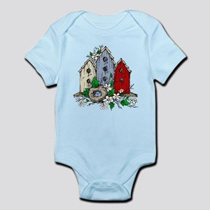 Three Birdhouses and a Nest copy Body Suit