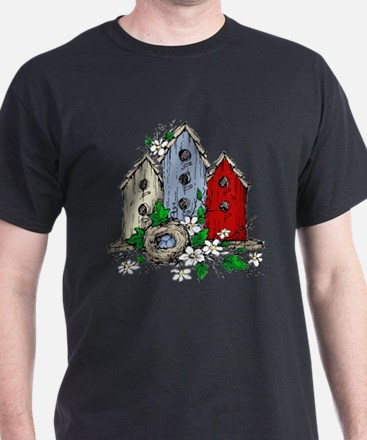 Three Birdhouses and a Nest copy T-Shirt