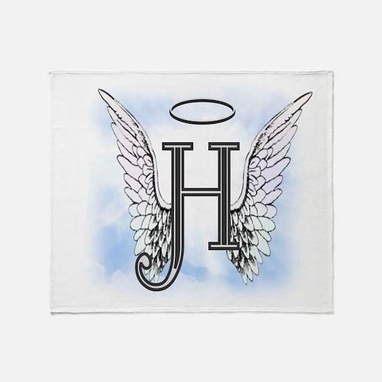 Letter H Monogram Throw Blanket
