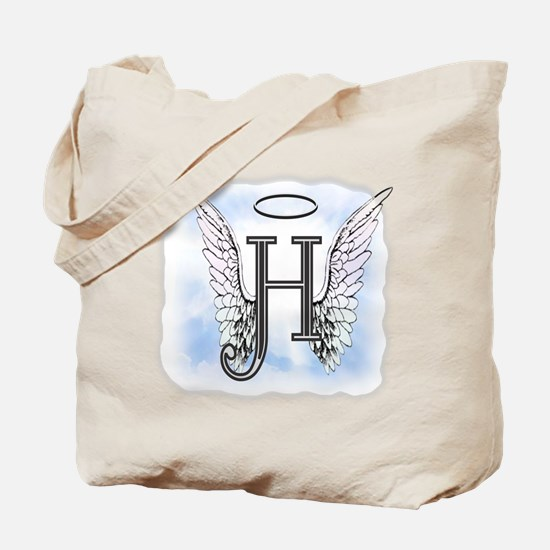 Letter H Monogram Tote Bag