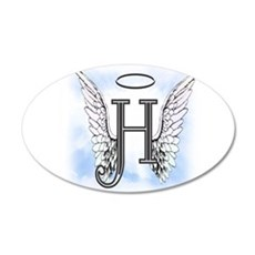Letter H Monogram Wall Decal