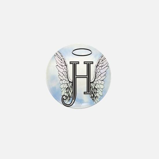 Letter H Monogram Mini Button