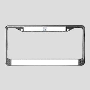 Letter H Monogram License Plate Frame