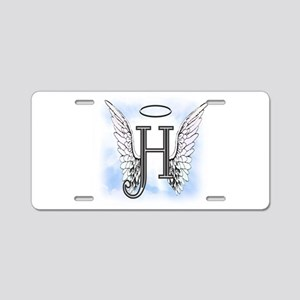 Letter H Monogram Aluminum License Plate