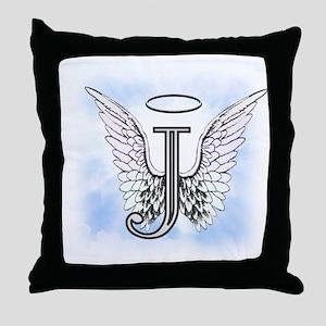 Letter J Monogram Throw Pillow
