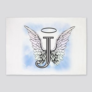 Letter J Monogram 5'x7'Area Rug