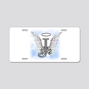 Letter J Monogram Aluminum License Plate