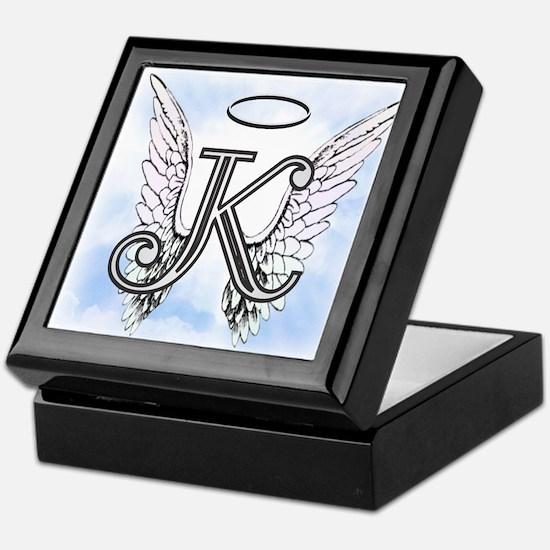 Letter K Monogram Keepsake Box