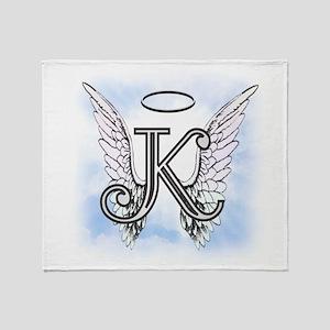 Letter K Monogram Throw Blanket