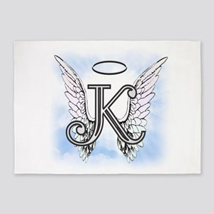 Letter K Monogram 5'x7'Area Rug