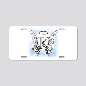 Letter K Monogram Aluminum License Plate