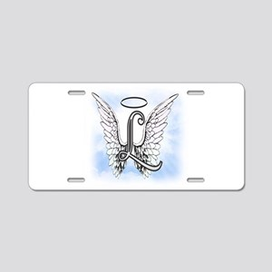 Letter L Monogram Aluminum License Plate