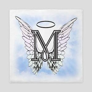 Letter M Monogram Queen Duvet
