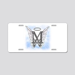 Letter M Monogram Aluminum License Plate