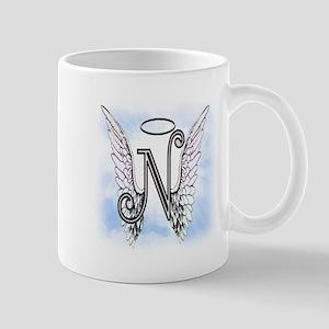 Letter N Monogram Mugs