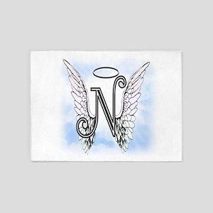 Letter N Monogram 5'x7'Area Rug