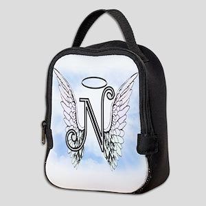 Letter N Monogram Neoprene Lunch Bag